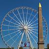 Paris France, Obelisk of Luxor,  The Big Wheel on the Place de la Concorde