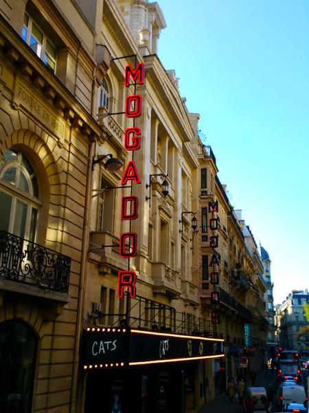 Paris France, Mogador Theatre