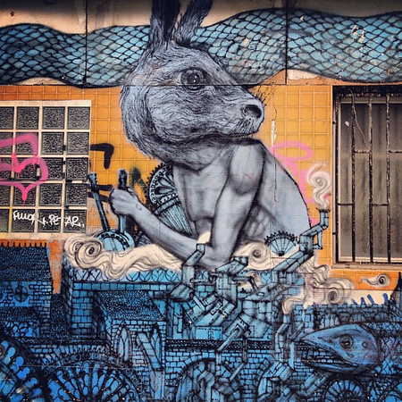 Shifting gears in Paris. The jackrabbit of Bellville #streetart #lovingthemoment