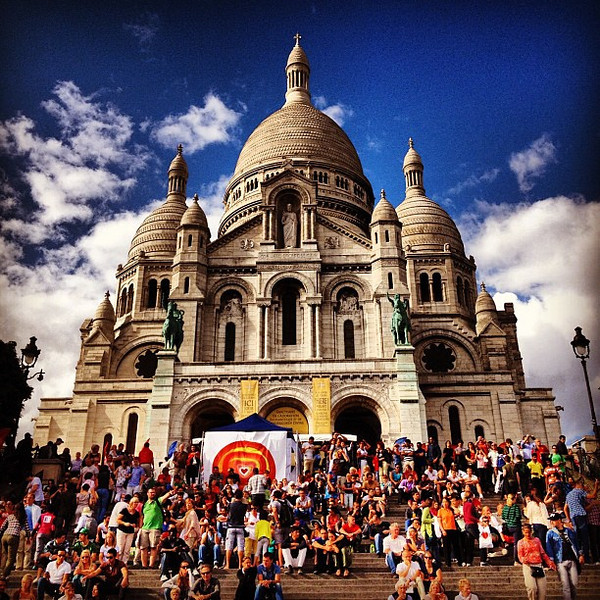 Sacre Coeur, Paris #skyporn #clouds #frifotos #lovingthemoment