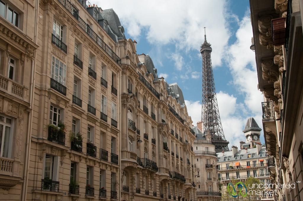 Neighborhood View of Eiffel Tower - Paris