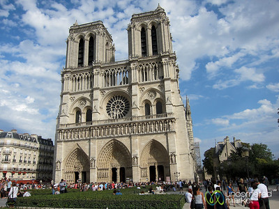 Notre Dame Cathedral on a Fall Day - Paris