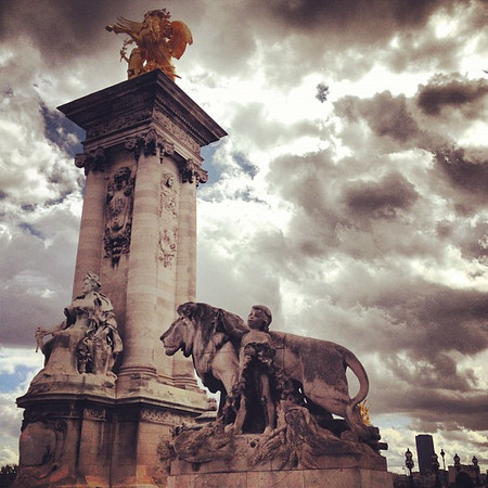 Paris #skyporn and bridge bling, Pont Alexandre III #lovingthemoment