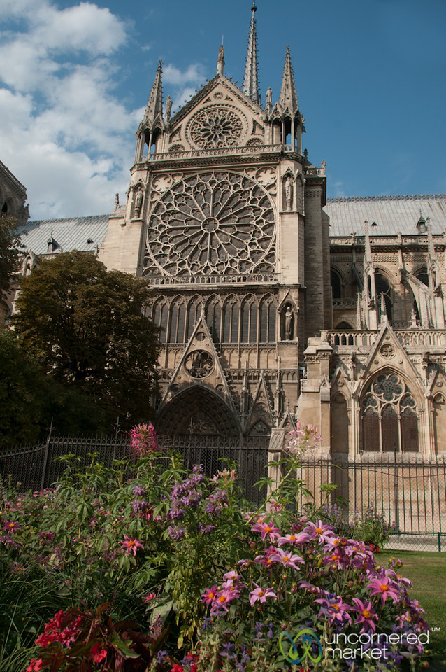 Notre Dame Cathedral, Side View - Paris