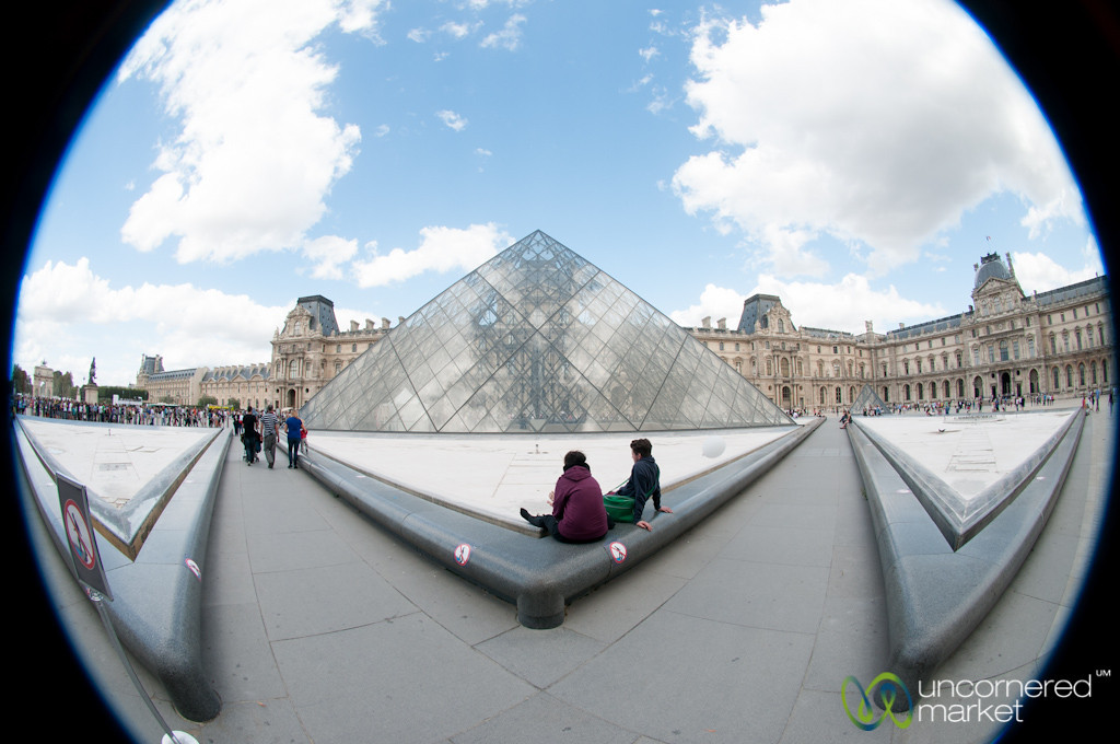 Louvre Pyramid, Fisheye View - Paris