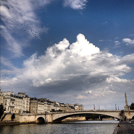 A seat on the Seine #Paris #lovingthemoment