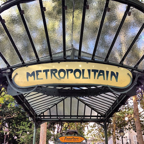 Le Metro(politain) Abbesses, Paris metro entrance in Art Nouveau #lovingthemoment