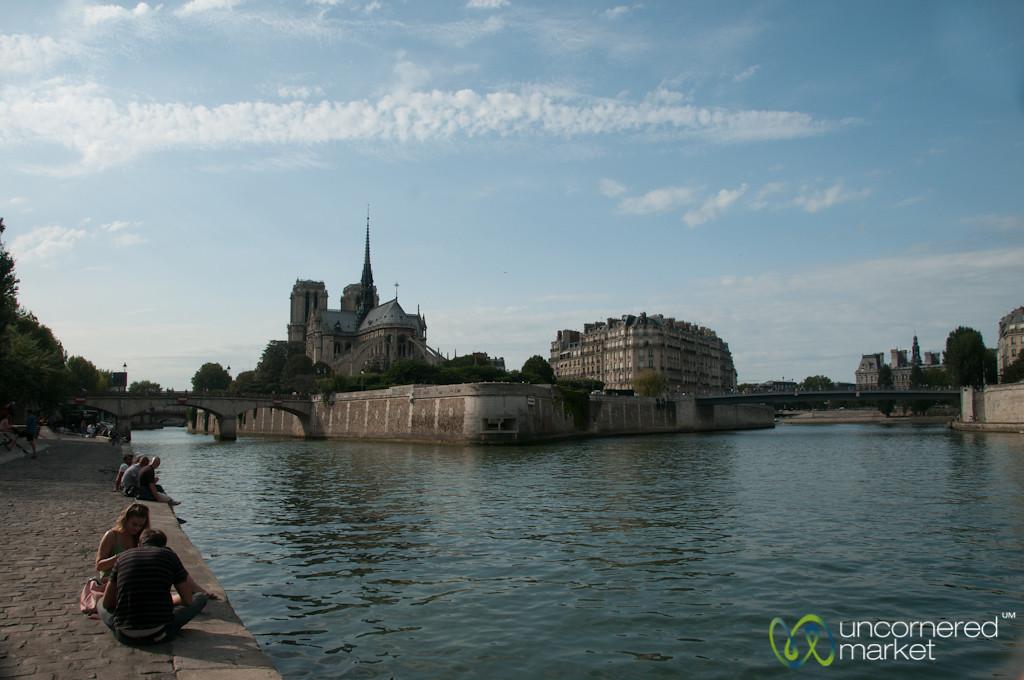 Sitting by the Seine River - Paris