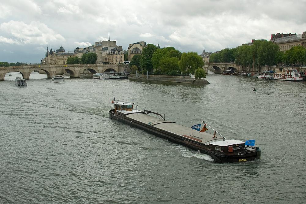 Barge on the Seine, Paris, France