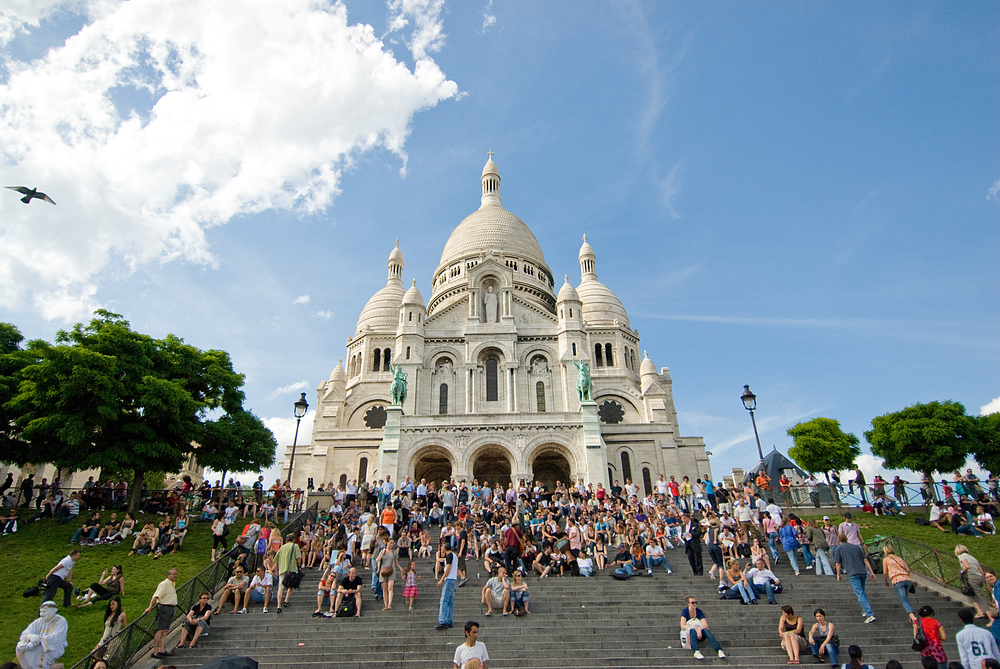 The Steps of Sacre Coeur, Paris, France