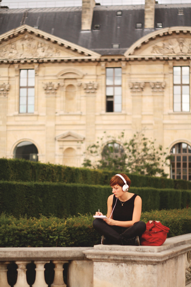 Outside of the Louvre. June 2013
