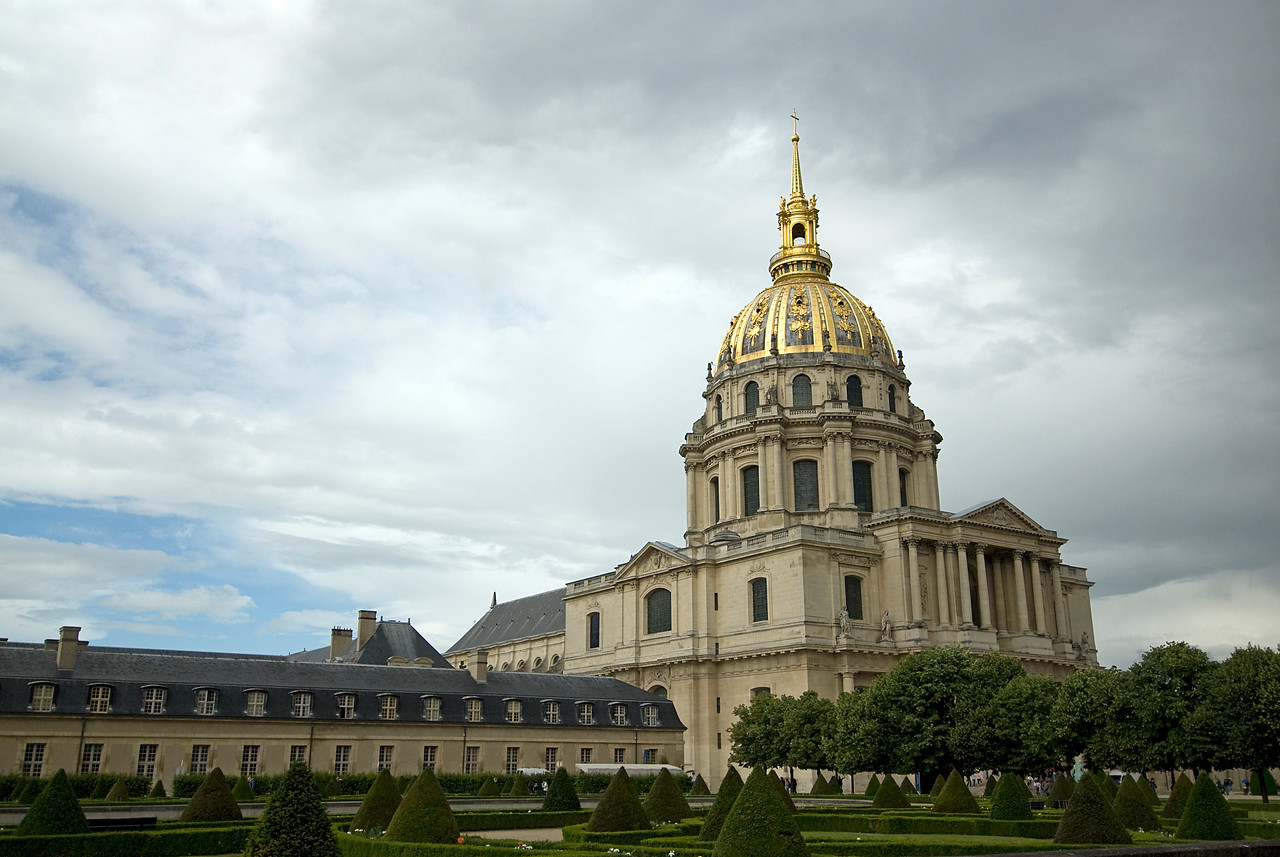 Gold Dome of Hotel des Invalides in Paris France