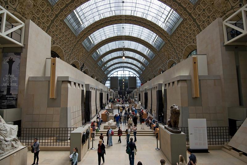 Inside the Musée d'Orsay - Paris, France