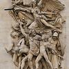 Arc de Triomphe - right-side sculpture