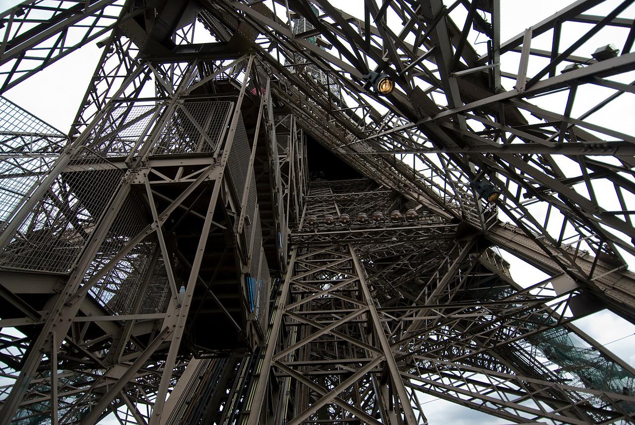 Details inside the Eiffel Tower - Paris, France