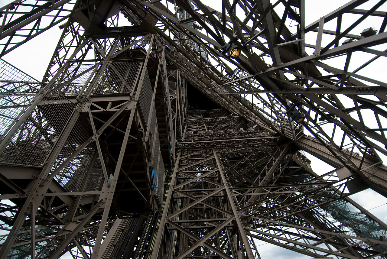 Details inside the Eiffel Tower - Paris, France
