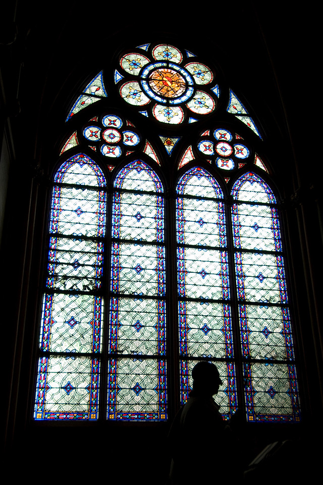 Shot from inside the Notre Dame Cathedral Paris, France