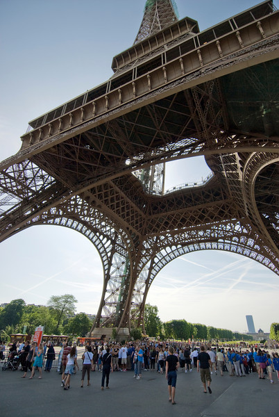View from underneath the Eiffel Tower - Paris, France