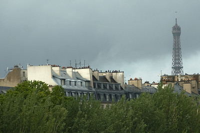 Rooftops and tower in Paris, France