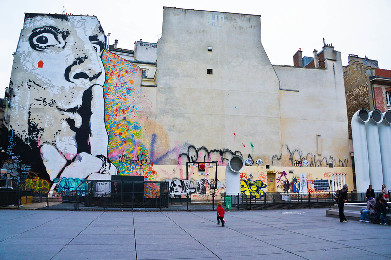 Dalí mural in Paris, France