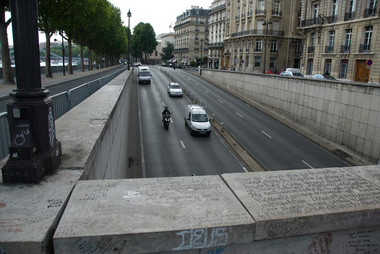 Quiet street in Paris, France