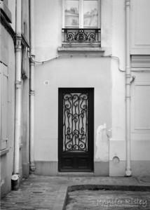 Scrolled Iron Door