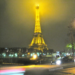 Eiffel Tower on a Rainy Night – Paris, France – Daily Photo