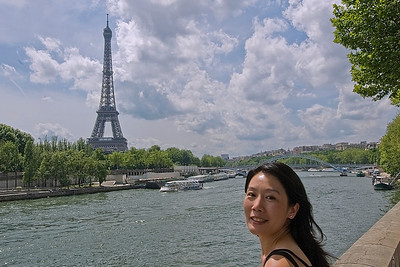 View of the Eiffel Tower across the Seine River - Paris, France