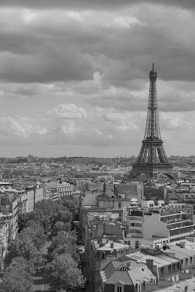 The Eiffel Tower in B&W - Paris, France