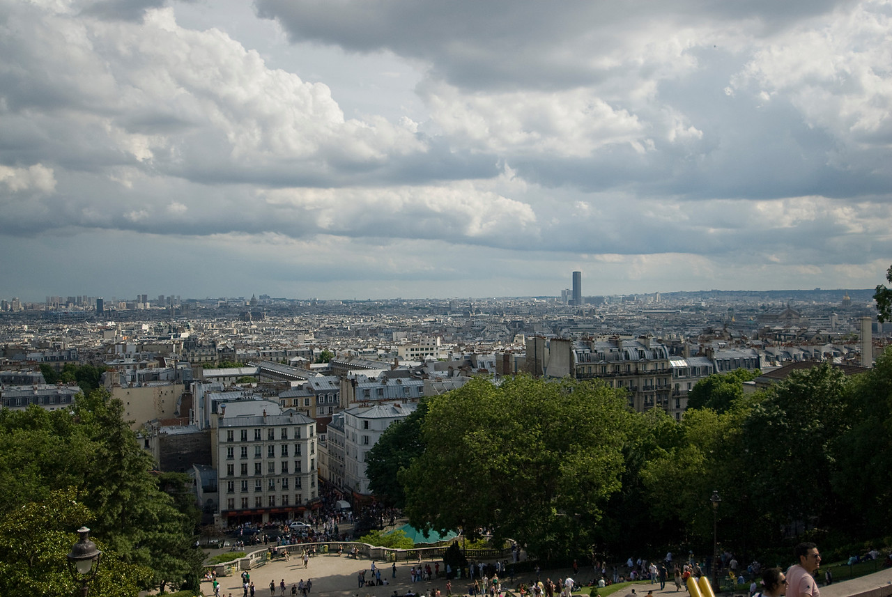 Overlooking the city of Paris in France