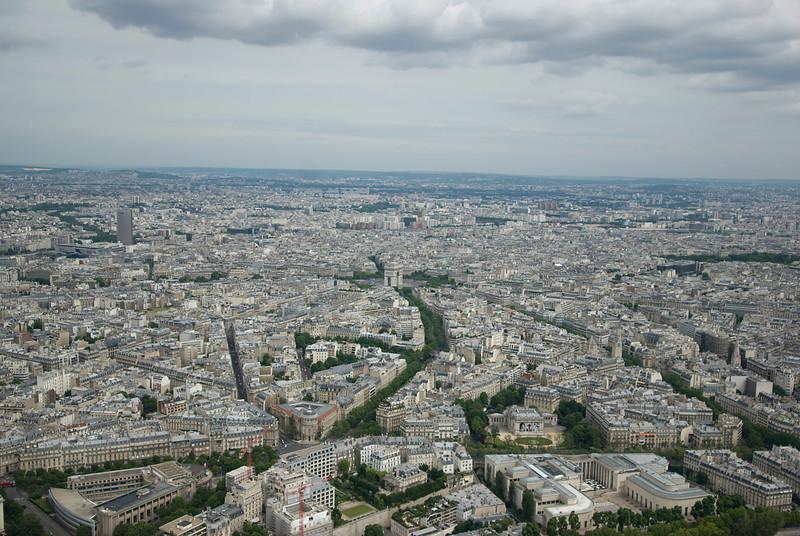 The city skyline of Paris, France