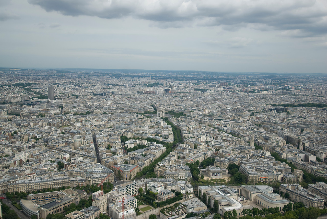 The city skyline of Paris, France