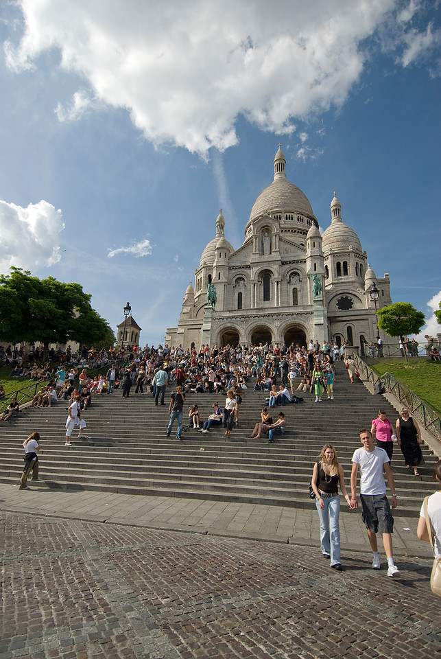 View outside Montmartre in Paris, France