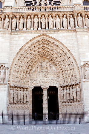 Paris - Cathedral of Notre Dame - Entrance - Scene of Last Judgement