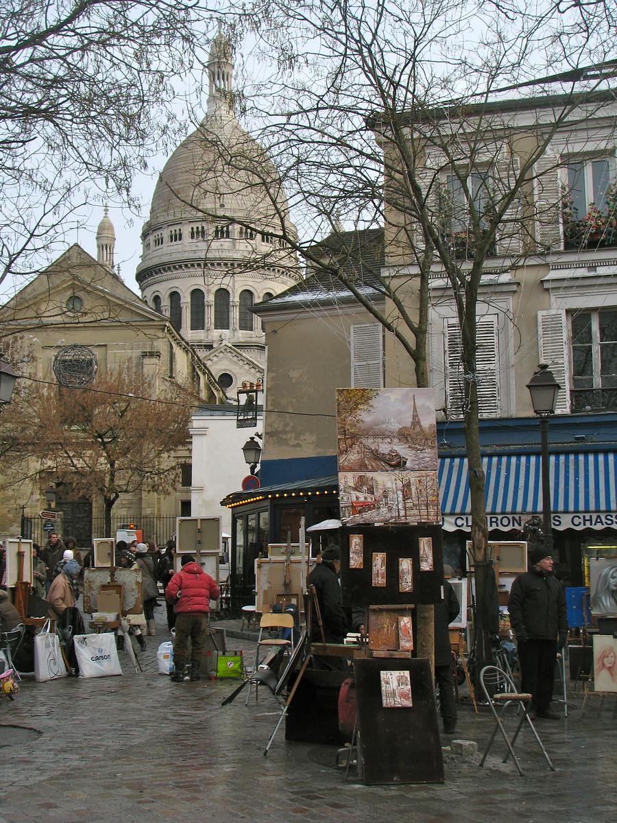 Sacre Couer and Montmartre - Paris France