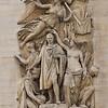 Arc de Triomphe - left-side sculpture