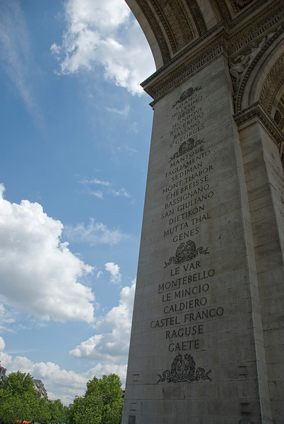 Soldiers honored at Arc de Triomphe - Paris, France