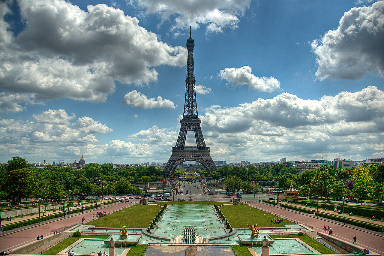 The Eiffel Tower as seen from the Esplanade du Trocadéro - Paris, France