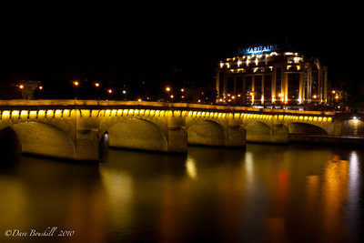 Europe-France-Paris-Pont-Night