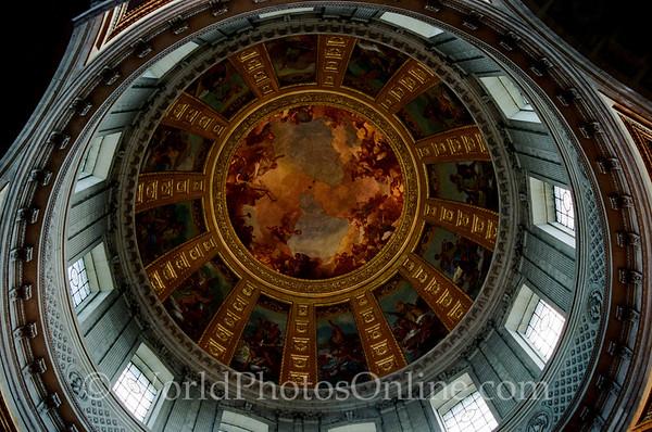 Paris - Hotel Des Invalides - Dome Church Ceiling
