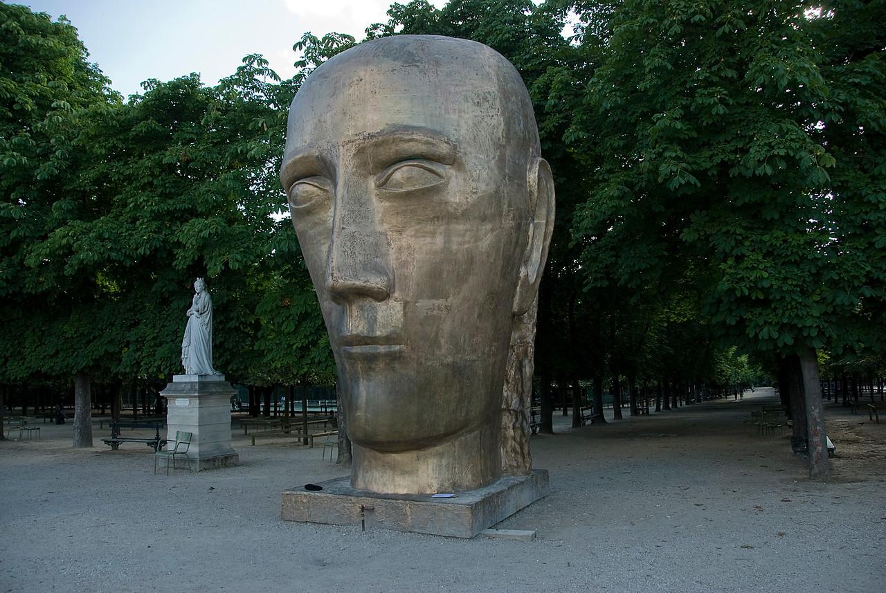 A typical Parisian park with sculptures - Paris, France
