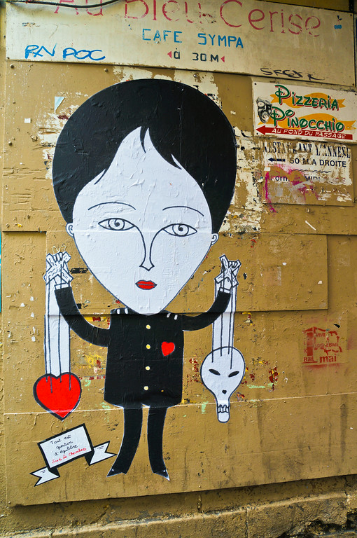 Fred Le Chevalier paste up in Paris, France