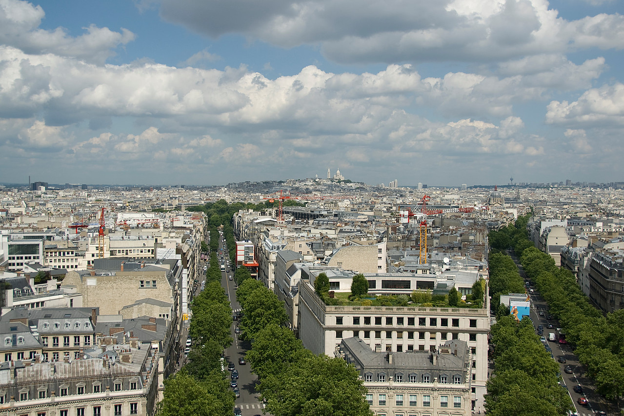 Overlooking the city skyline in Paris, France