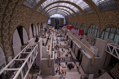 Inside the Musée d'Orsay in Paris, France