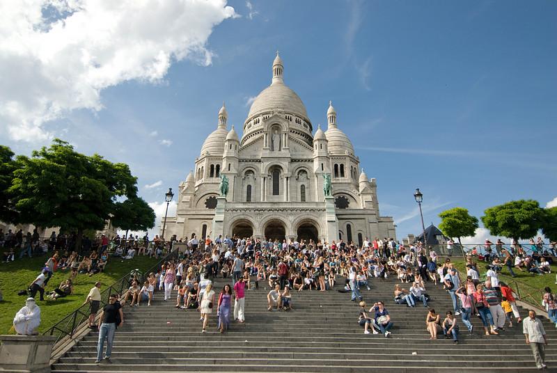 Tourists in Montmartre - Paris, France