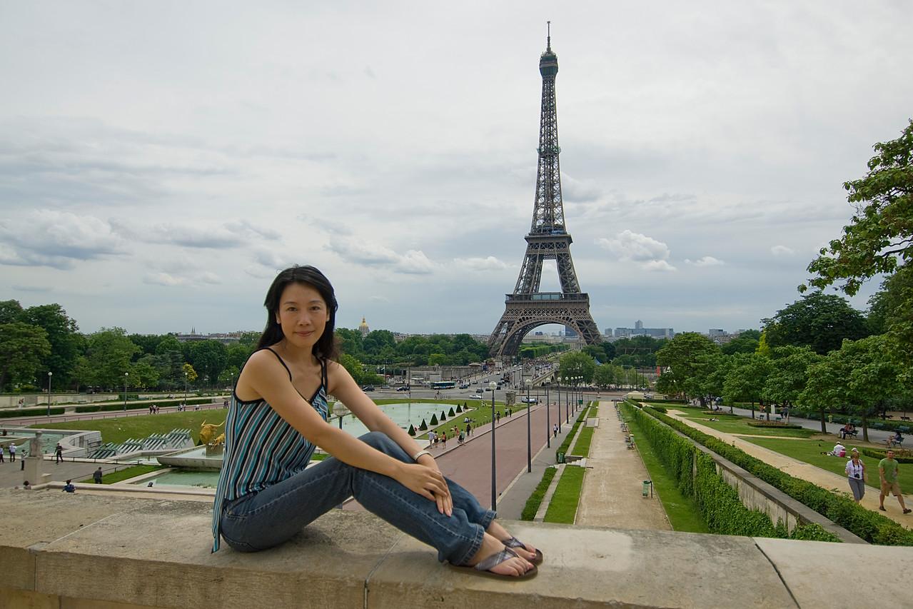 View of the park near Eiffel Tower - Paris, France