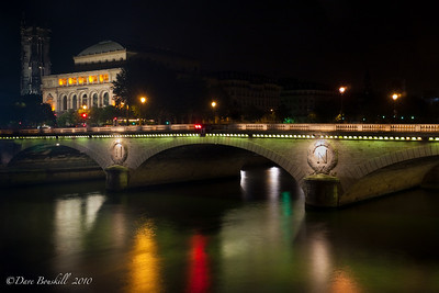 Europe-France-Paris-Napolean-Bridge-Night