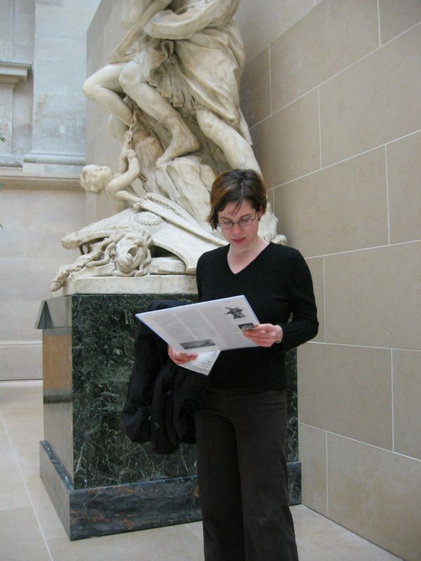 Terri, at the Louvre in Paris