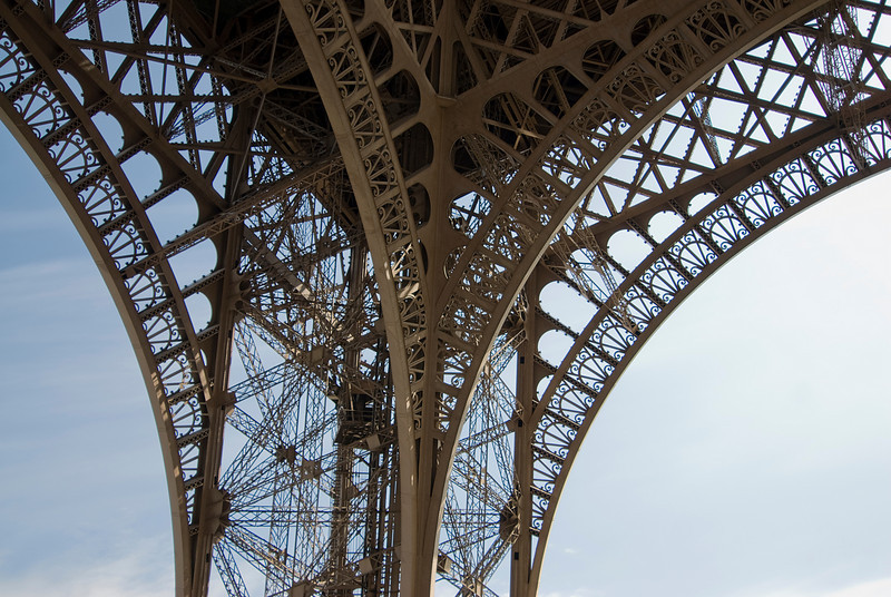 Details of the Eiffel Tower in Paris, France