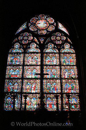 Paris - Cathedral of Notre Dame - Stained Glass